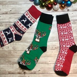 NWOT Yo Sox set of men's Christmas socks